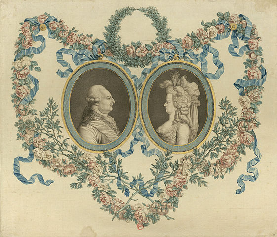 18th Century portrait of Louis XVI and Marie-Antoinette