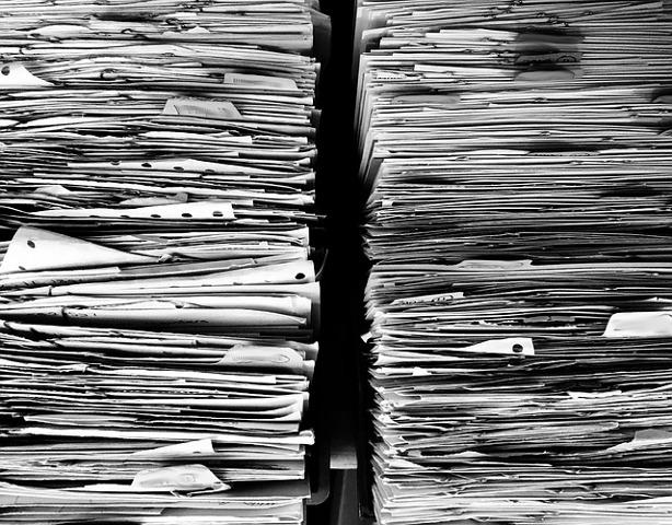 Huge stacks of paper