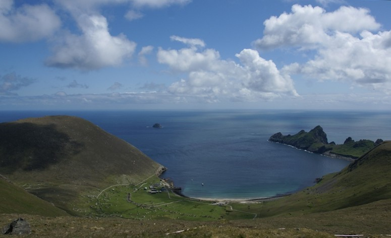 A view from Hirta island in the St Kilda archipelago