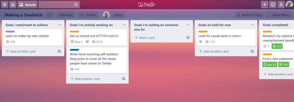 My personal Trello board