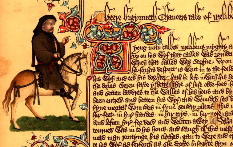 Section of Chaucer's Canterbury Tales (Ellesmere manuscript)